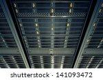 bottom view on data servers... | Shutterstock . vector #141093472
