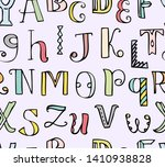 colorful doodle seamless... | Shutterstock . vector #1410938828