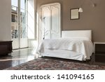 beautiful hotel room in... | Shutterstock . vector #141094165
