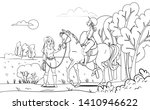 horse design. horse and a rider ... | Shutterstock .eps vector #1410946622