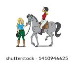 horse design. horse and a rider ... | Shutterstock .eps vector #1410946625