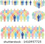 multicolored vector... | Shutterstock .eps vector #1410957725