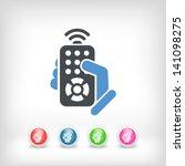 remote control concept icon | Shutterstock .eps vector #141098275