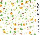 wild flowers seamless pattern...   Shutterstock .eps vector #1411038905