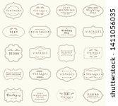 20 set of vintage frames  sign... | Shutterstock .eps vector #1411056035