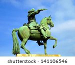 Statue Of Louis Xiv In Front O...