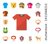 collar icon set. 17 flat collar ... | Shutterstock .eps vector #1411068212