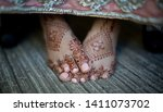 pakistani indian bridal showing ... | Shutterstock . vector #1411073702