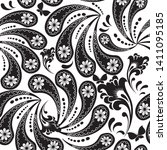 Floral Paisley Vector Seamless...
