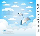 good weather paper background   ... | Shutterstock .eps vector #141110692