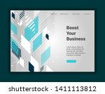abstract art background with... | Shutterstock .eps vector #1411113812