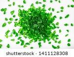 top view of pile of broken...   Shutterstock . vector #1411128308