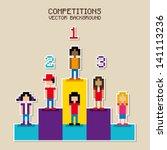 competitions pixel design over... | Shutterstock .eps vector #141113236