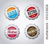 corks design over gray... | Shutterstock .eps vector #141113626