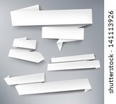 White Vector Paper Banners For...