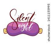 silent night. hand drawn... | Shutterstock .eps vector #1411155995
