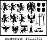 heraldry vector set | Shutterstock .eps vector #141117802