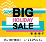 sale poster with big holiday... | Shutterstock .eps vector #1411193162