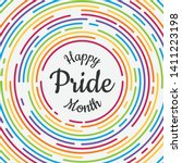 Happy Pride Month Banner With...