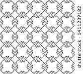 seamless monochrome interlaced... | Shutterstock .eps vector #1411239182