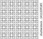seamless monochrome interlaced... | Shutterstock .eps vector #1411239185