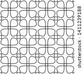 seamless monochrome interlaced... | Shutterstock .eps vector #1411239188
