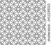 seamless monochrome interlaced... | Shutterstock .eps vector #1411239212