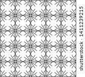 seamless monochrome interlaced... | Shutterstock .eps vector #1411239215