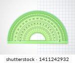 school supplies. measuring tool.... | Shutterstock .eps vector #1411242932