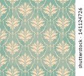 turquoise vintage wallpaper... | Shutterstock .eps vector #141124726