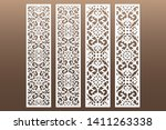die and laser cut decorative... | Shutterstock .eps vector #1411263338