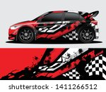 rally car decal graphic wrap... | Shutterstock .eps vector #1411266512