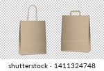 shopping empty bags isolated ... | Shutterstock .eps vector #1411324748