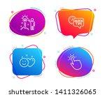 creative idea  smile and quick... | Shutterstock .eps vector #1411326065