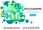 vector background with eco... | Shutterstock .eps vector #1411335392
