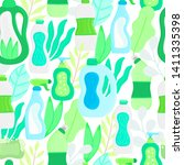 seamless pattern. eco friendly... | Shutterstock .eps vector #1411335398