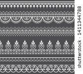 lace openwork seamless vector... | Shutterstock .eps vector #1411344788