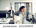 secretary feeling emotional.... | Shutterstock . vector #1411349045