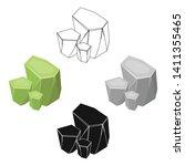 light green rough gemstone icon ... | Shutterstock .eps vector #1411355465
