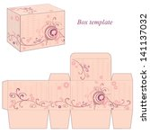 box template with abstract... | Shutterstock .eps vector #141137032