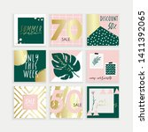 summer instagram business ...   Shutterstock .eps vector #1411392065
