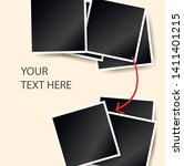polaroid square photo frames on ... | Shutterstock .eps vector #1411401215