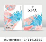 abstract exotic tropical leaves ... | Shutterstock .eps vector #1411416992