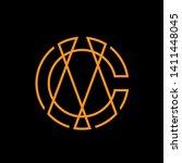 cm logo design   initial letter ... | Shutterstock .eps vector #1411448045