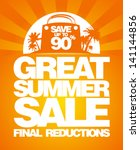 final summer sale design... | Shutterstock .eps vector #141144856