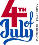 4th of july. usa independence... | Shutterstock .eps vector #1411448912