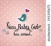 Baby Card Design. Vector...