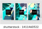 abstract exotic tropical leaves ... | Shutterstock .eps vector #1411460522