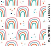 seamless pattern with hand...   Shutterstock .eps vector #1411500098