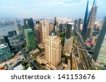 view from the oriental pearl tv ... | Shutterstock . vector #141153676